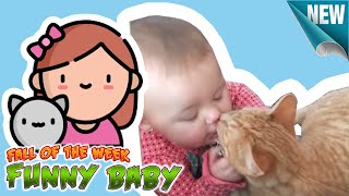 Cute Baby Cat Funny videos - baby and cat fun and fails