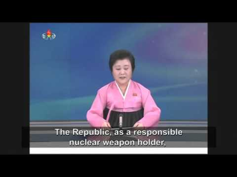 Watch North Korean TV Announcement Of Hydrogen Bomb Test