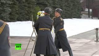 Президент Кипра возложил венок к Могиле Неизвестного Солдата