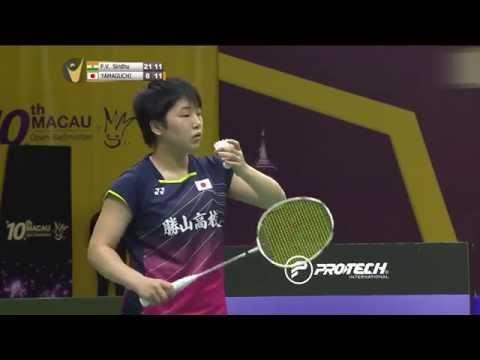 2015 Macau Open | Badminton SF M2-WS | P.V Sindhu vs Akane Yamaguchi