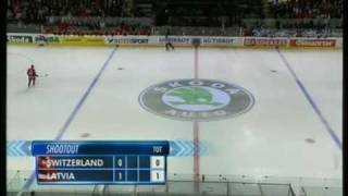 Switzerland Latvia World Hockey Championship Berne 2009 Penalty Shootout