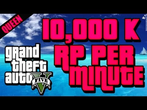 GTA 5 Online   3.000 to 10.000 RP PER Minute Glitch