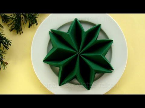 servietten falten weihnachten weihnachtsstern anleitung weihnachtsdeko youtube. Black Bedroom Furniture Sets. Home Design Ideas