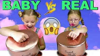 BABY FOOD vs REAL FOOD CHALLENGE!!! Magic Box Toys Collector