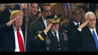 Inaugural Parade 2017 in Washington DC. Pres. Donald Trump