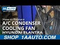 How To Install Replace RH Radiator AC Condensor Cooling Fan 2001-06 Hyundai Elantra