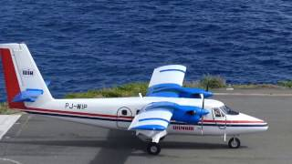 World's shortest runway - Twin Otter STOL at Saba