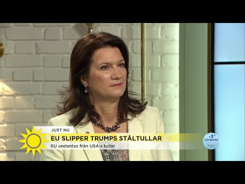 """Handelsministern om att EU slipper ståltullar: """"Det är inte över än"""" - Nyhetsmorgon (TV4)"""