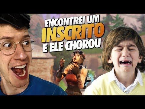 ENCONTREI UM INSCRITO E ELE CHOROU... | FORTNITE