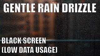 [4 HR] - GENTLE RAIN DRIZZLE SOUND for sleep or study (black screen) - [ASMR 360]