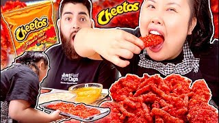 FLAMIN' HOT CHEETOS CHICKEN MUKBANG 먹방 AND RECIPE COOKING/EATING SHOW!