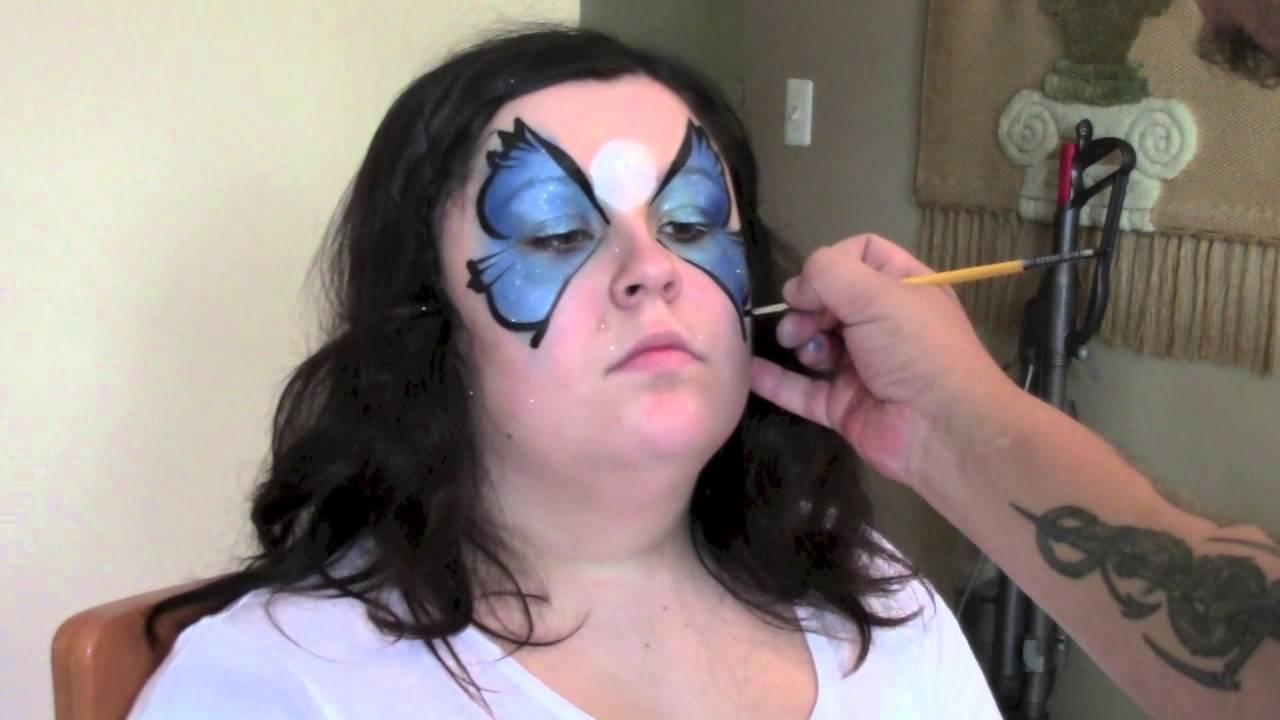 Butterfly Halloween Face Paint Halloween Butterfly Face