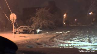 SUPERSTORM SANDY Remembered Video #1: Blizzard conditions begin in Elkins, WV