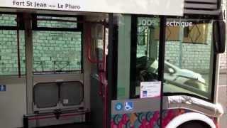 (只有畫面)!法國馬賽電動公車體驗