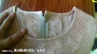Belajar pasang bisban leher baju