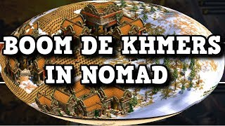 Age of Empires 2 HD Boom de Khamers in Nomad AoE2HD Gameplay PT BR