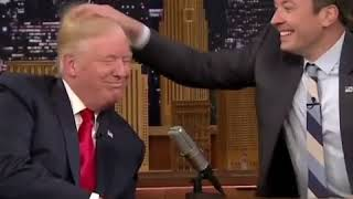 Donald Trump Loosing his Hair in a live TV Show