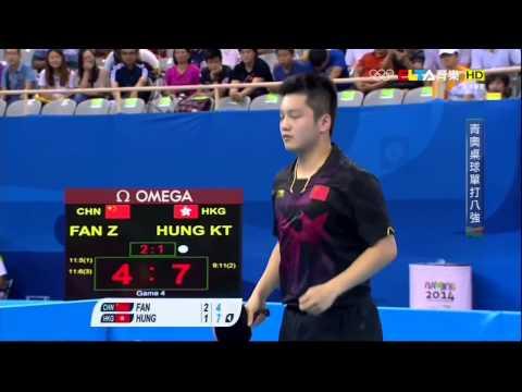 孔嘉德 對 樊振東(高清) HUNG KA TAK (HKG) vs FAN ZHEN DONG (CHINA)