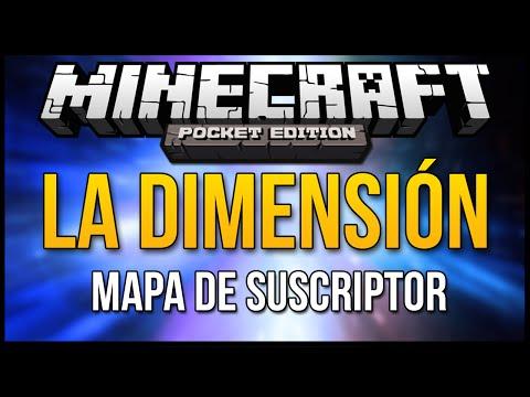 Minecraft PE: LA DIMENSIÓN   Mapa de Suscriptor