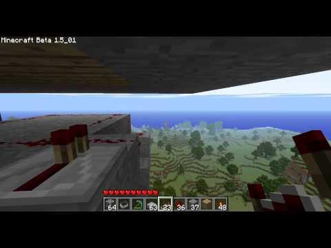 Minecraft - Les MDM : pistons 9(bis) L'ascenseur, le mécanisme enfin dévoilé =)