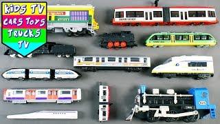 Types Of Trains For Kids Children Babies Toddlers   Train Tram Steam Engine Locomotive   Kids TV