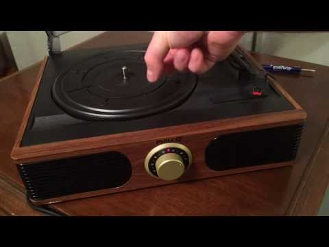 Philco Mini Turntable EL-177 Review and Speed Adjustment