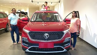 Taking Delivery of MG Hector Top End with Family|Exterior,Interior&Driving Video|Morris Garages