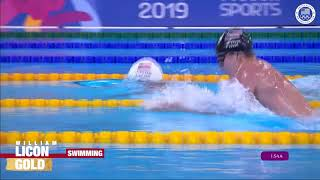 William Licon Wins 200m Breaststroke | Pan American Games Lima 2019
