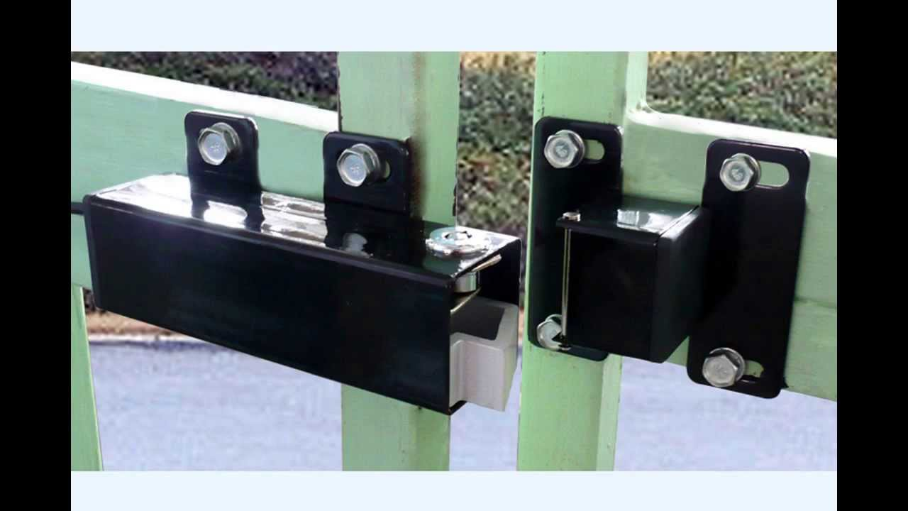 Aleko 174 Electric Lock Lm149 For 24v Swing Gate Opener Youtube