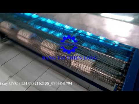 Băng tải sấy cá UVC