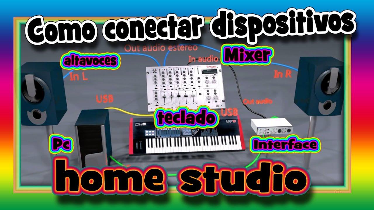 Como Conectar Teclado Controlador Midi  Interface De Audio Mixer