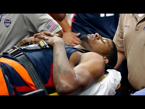Paul George Suffers Gruesome Right Leg Injury During Team USA Scrimmage - Jockington.com