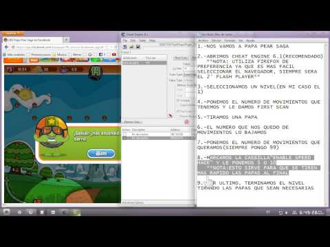 Hack de movimientos infinitos PAPA PEAR SAGA[2013][JUNIO]