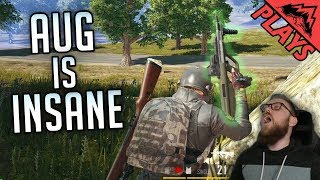 AUG IS INSANE - PlayerUnknown's Battlegrounds Gameplay #164 (PUBG TPP  Games)