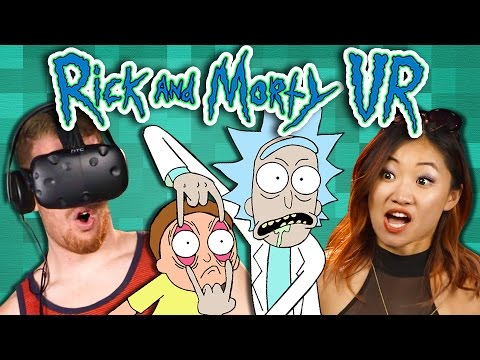 RICK AND MORTY VR: VIRTUAL RICK-ALITY - Part 1 (REACT: Gaming)