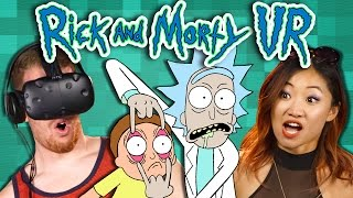 RICK AND MORTY VR: VIRTUAL RICK-ALITY - Part 1 (REACT: Gaming)