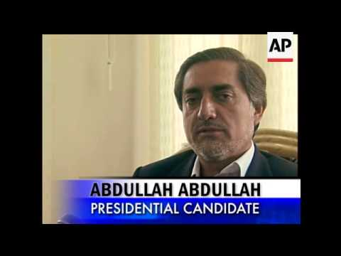 Former foreign minster Abdullah Abdullah said that he was disappointed by the security for the elect
