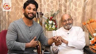 On the Eve of Winning Dada Saheb Phalke Award Allu Arjun Meets Legend K Viswanath