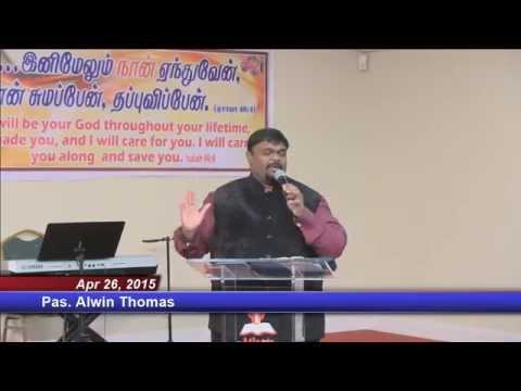 2015-04-26 Atlanta Tamil Church Sunday Service - Pas.alwin Thomas video