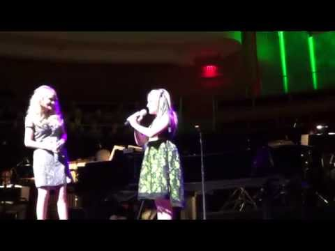 Brooke Besikof,9, sings duet with Kristin Chenoweth