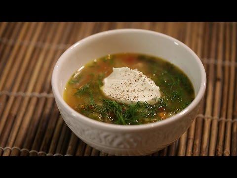 Вкусный и полезный суп из шпината, вегетарианское блюдо