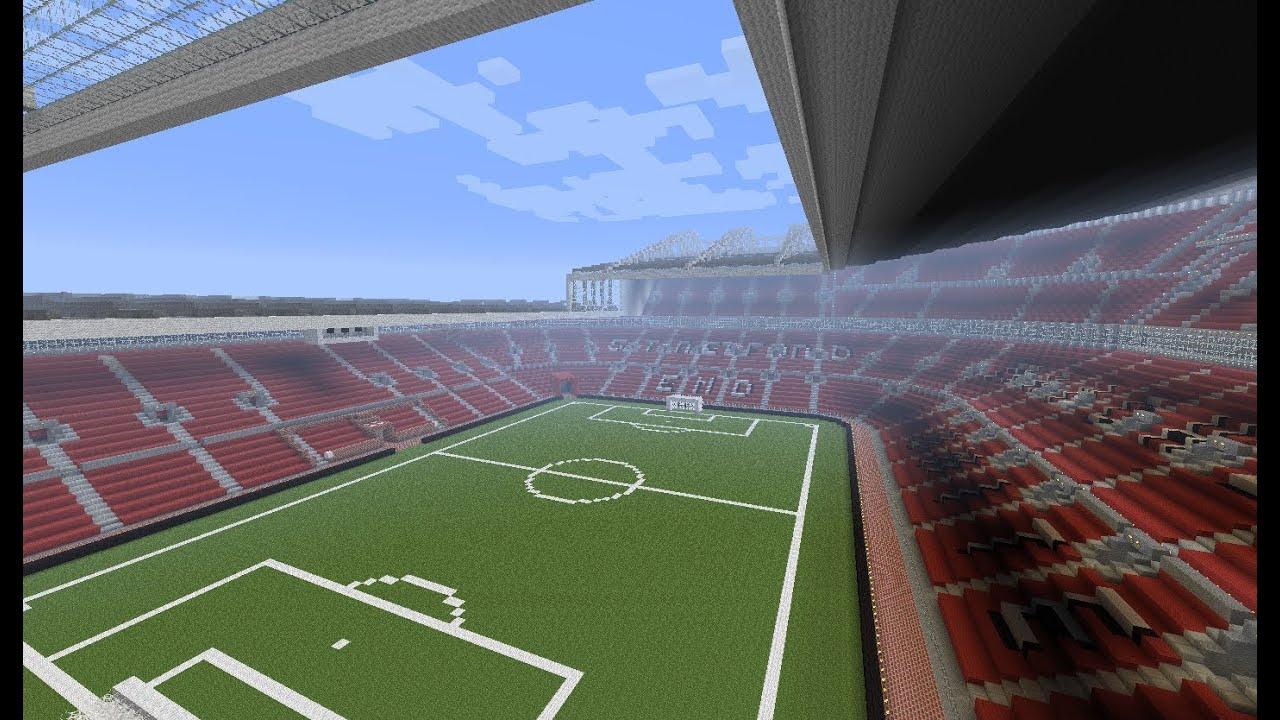 Manchester United Old Trafford Stadium In Minecraft