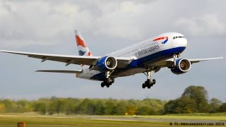 INCREDIBLE British Airways Boeing 777 Takeoff at Cambridge!