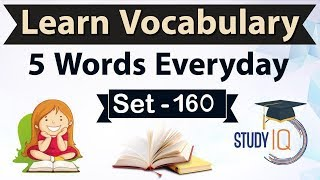 Daily Vocabulary - Learn 5 Important English Words in Hindi every day - Set 160