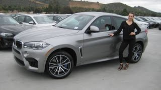 ALL - NEW BMW X6 M Donington Grey / Mugello Red Leather / Exhaust Sound Review X6M