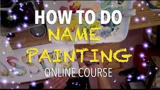 How to do name painting | Letter Art | Where to get name painting materials?
