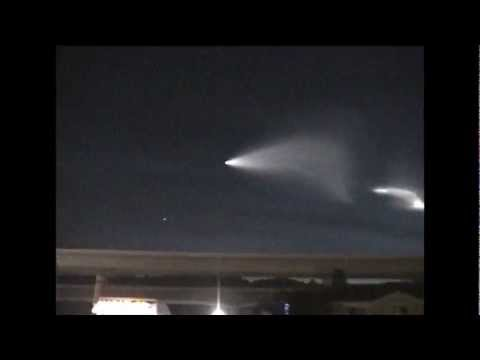 fireball ufo missle over orange county , california