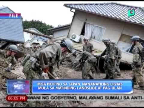 Mga Pilipino sa Japan nananatiling ligtas mula sa matinding landslide at pag-ulan [08|23|14]