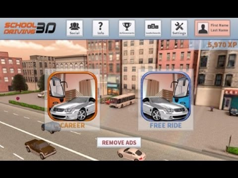 Driving Simulator Game School Driving 3D iPad App Review and Demo