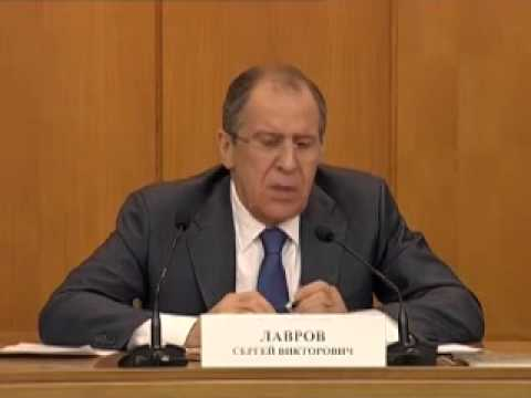 Sergey Lavrov's press-conference on results of year 2013